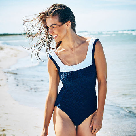 Paula Swordfish One Piece Swimsuit 13001 Navy/White