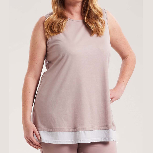Rösch Curve Sleeveless Top 1184527 Rose