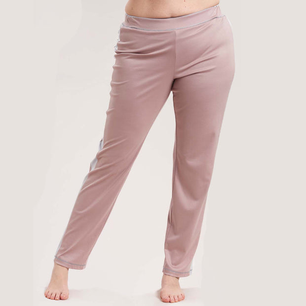 Rösch Curve Lounge Pants with Side Stripes 1184525 Rose