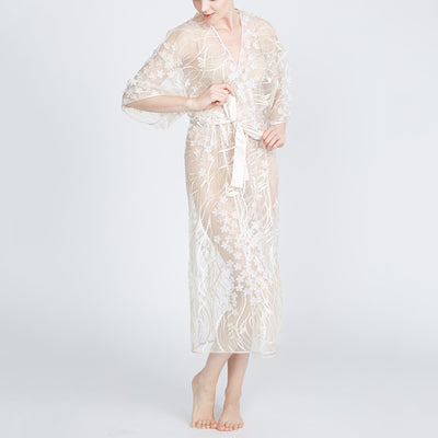 Rya Collection Kiss Long Robe- Champagne