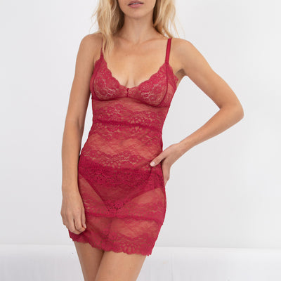 Samantha Chang All Lace Boudoir Full Slip SC442118 Scarlett