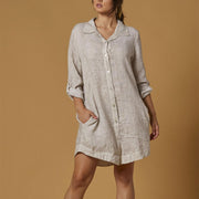 Scandal Abril Tunic- Beige