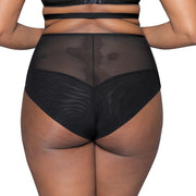 Scantilly Unzipped Black High Waist Brief ST5208 Black