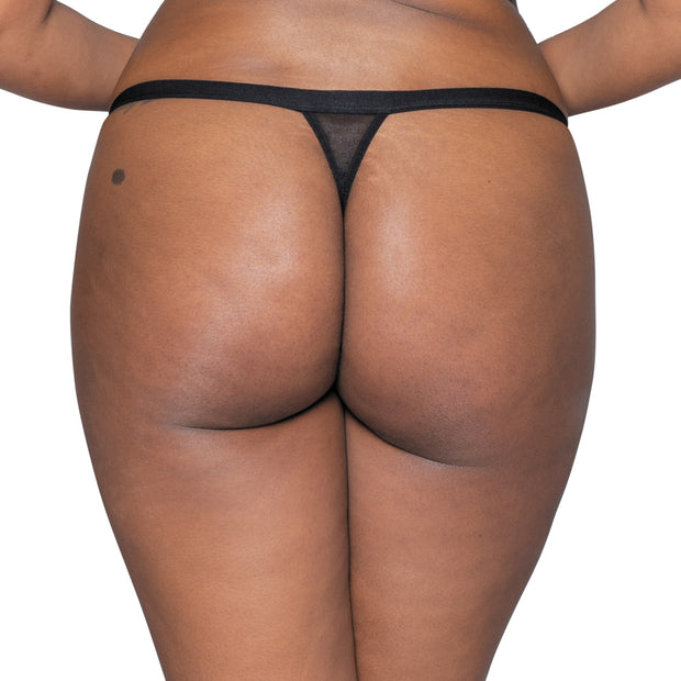 Scantilly Unzipped Black Thong ST5200 Black