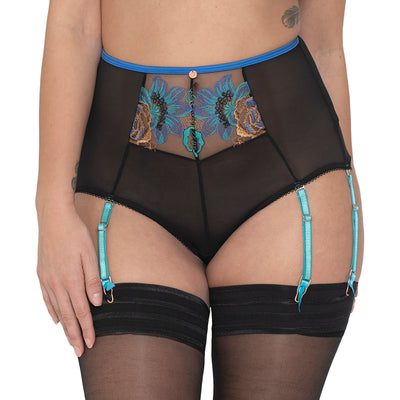 Scantilly by Curvy Kate Encounter High Waist Brief ST4865 Peacock