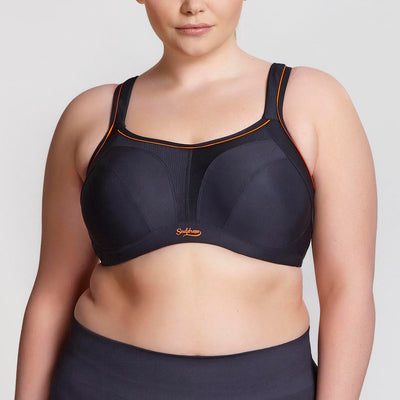 Sculptresse Plus Size Underwire Sports Bra 9441 Black