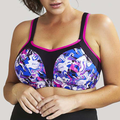 Sculptresse by Panache Plus Size Underwire Sports Bra 9441 Liquid Waves
