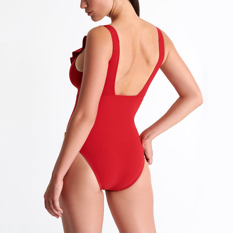 Shan Niigata One Piece Swimsuit 42035-05 Red