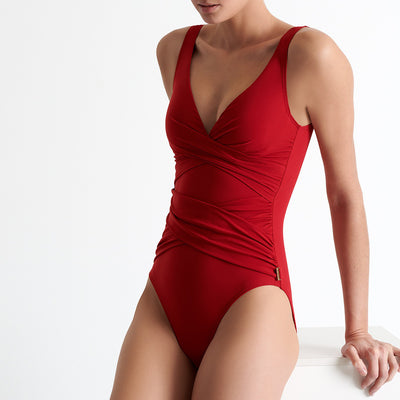 Shan Classique One Piece Swimsuit 42060-02 Red