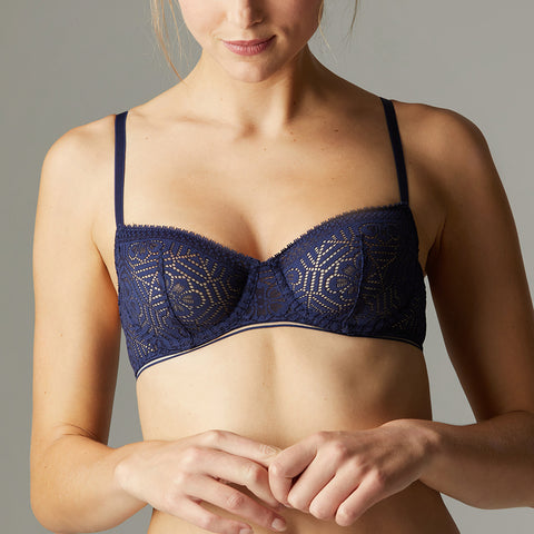 Simone Perele Asta Sheer Demi Bra 13S330 Night Blue