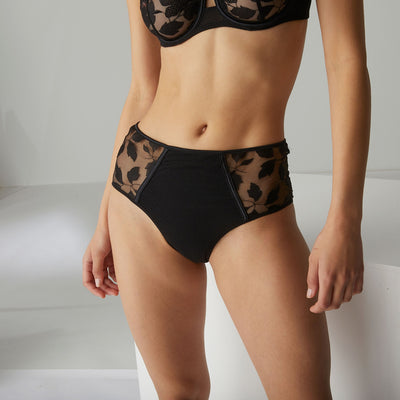 Simone Perele Dahlia High Waist Brief 14V770 Black