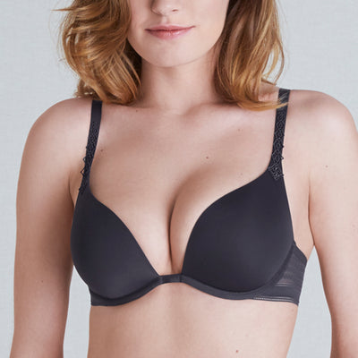 Simone Perele Muse Triangle Plunge Push-Up Bra 12C347 Anthracite