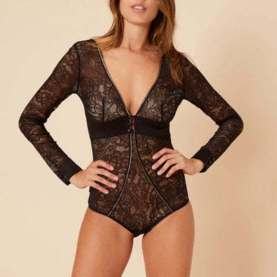 Simone Perele After Work Bodysuit 15K510 Black Bodysuit