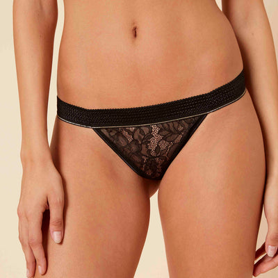 Simone Perele After Work Thong 15K700 Black Thong