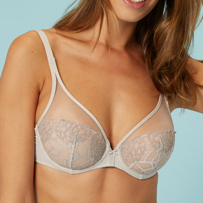 Simone Perele Java Full Coverage Plunge 12G319 Linen