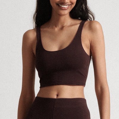 Skin Clio Crop Top Bralette DCL12AH Walnut