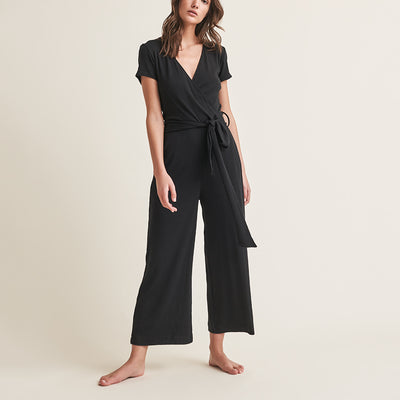 Skin Nicole Pima Cotton/Modal Blend Jumpsuit CPR46AF Black