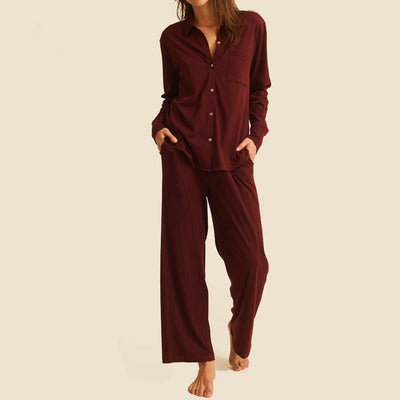 Skin Bordeaux Cotton  PJ Set