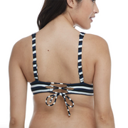 Skye Swim Isabella Wide Band Triangle Top SK69211 Stripe