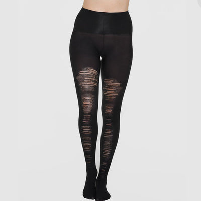 Spanx Destroyed Tummy Shaping Tights 20176R Black