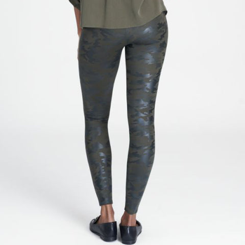 Spanx Faux Leather Leggings 20185R Green Camo