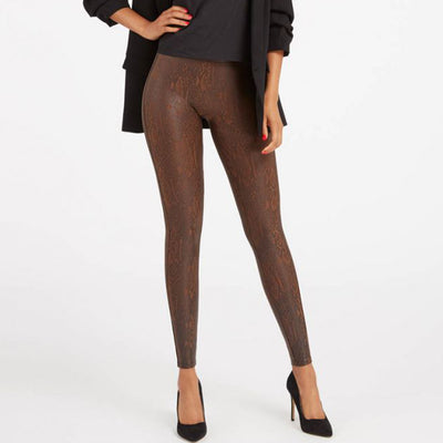 Spanx Faux Leather Leggings 20265R Snakeskin