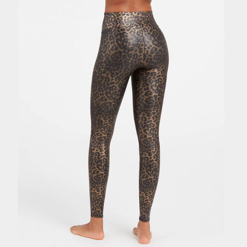 Spanx High-Waisted Leggings 20270R Leopard Shine