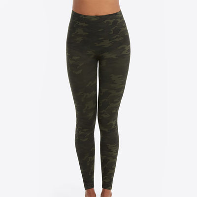 Spanx Look At Me Now Seamless Leggings FL3515 Green Camo