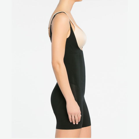 Spanx OnCore Open-Bust Mid-Thigh Bodysuit 10130R Open Bust Body