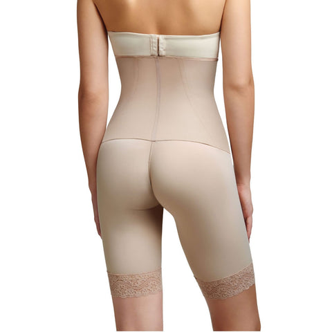 Squeem 'Sexy Body' High Waist Mid Thigh Short - Black / Nude