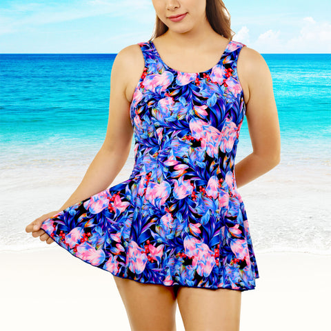 T.H.E One Piece Mastectomy Swim Dress 996-60 Floral
