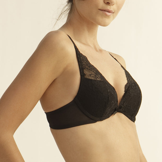 The Little Bra Company Lucia Push Up Bra E004c Black
