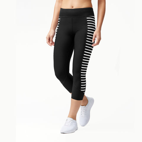 Tommy Bahama IslandActive® Frond Song Reversible Cropped Leggings Tsw82726c Black/White