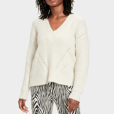 UGG Alva Deep Neck Sweater 1103711 Cream