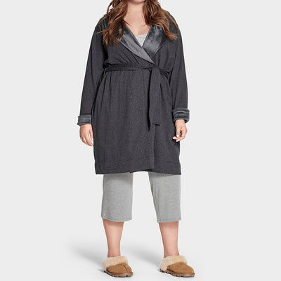 UGG Duffield Deluxe Plus Size Robe 1095614 Blackbear