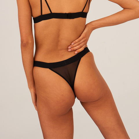 Undress Code Daydreaming Thong Black