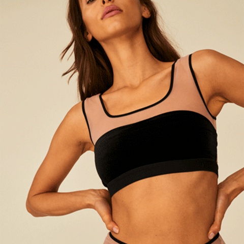 Undress Code Free Spirit Crop Top Black