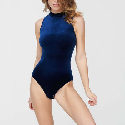 Undress Code Never Look Back Bodysuit Blue