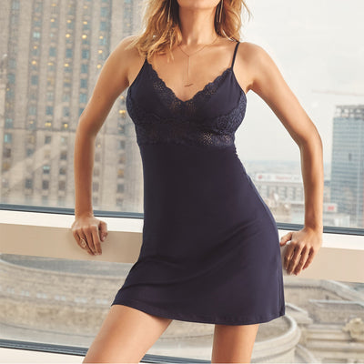 Vanilla Night and Day Nighty Gown Oz-3514 Navy