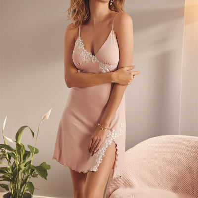 Vanilla Night and Day Nighty Oz-3529 Dusty Pink