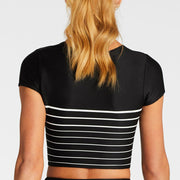 Vitamin A Deia Swim Crop Top 92RG-Mid Black