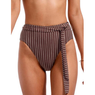 Vitamin A Lola High Waisted Swim Bottom 903B-CIG Cigar