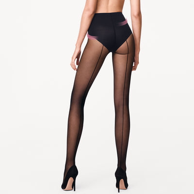Wolford Individual 10 Control Top Back Seam 14633 Black