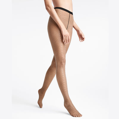Wolford Diamond Snake Tights 14749 GOB/BLK