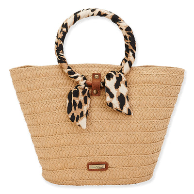 Sun 'N' Sand Natural Straw Tote CE6408 Tan