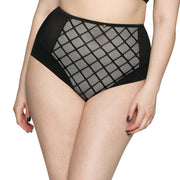 Scantilly by Curvy Kate Velvet Rose High Waist Brief ST4208 Black