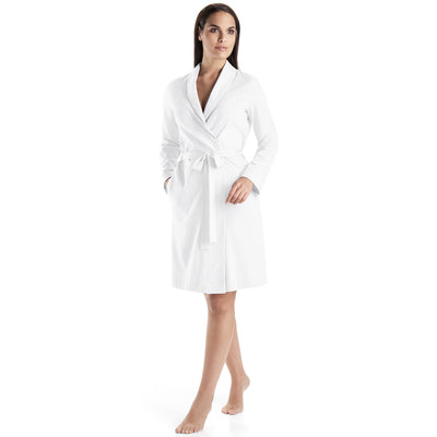 Hanro Cotton 3/4 Length Robe 77302 White