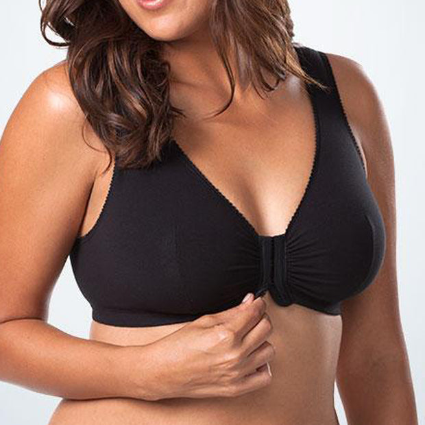 Leading Lady Leisure Bra 110 Blk Cotton