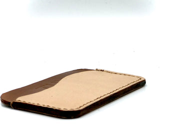 Leather wallet with 3 pockets