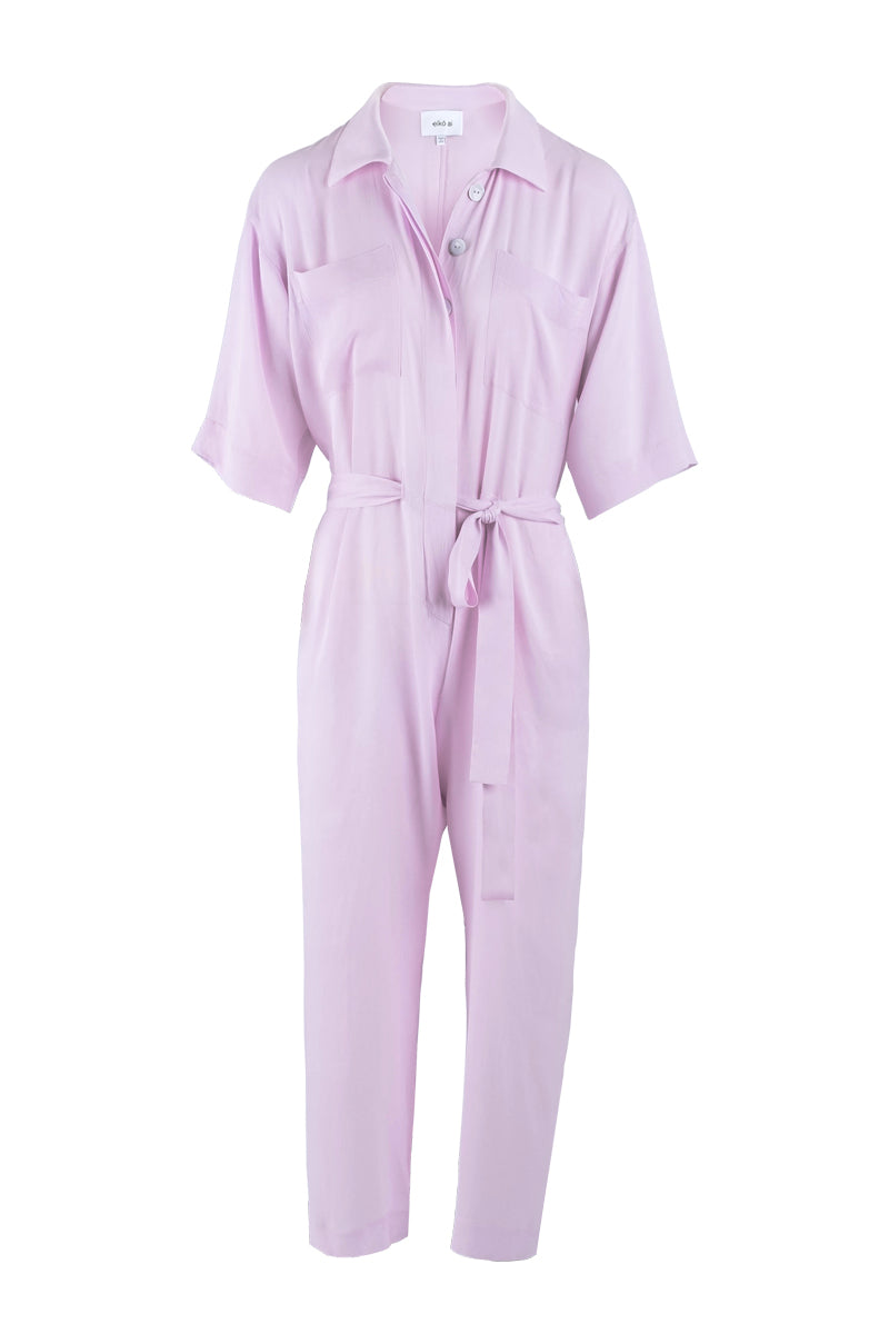 Lilac cropped utility jumpsuit